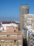 Las Palmas Islan jaune canari grand capital d'hôtels de logements de vue de dessus de toit Image libre de droits