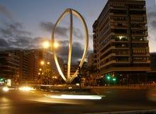 Las Palmas statua przy nocą zdjęcie royalty free