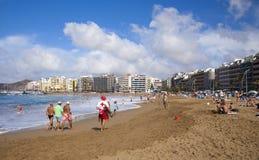 Las Palmas, Strand Las Canteras Stockfotos