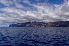 Las Palmas. View of Las Palmas from sea stock image