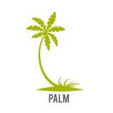 Las palmeras siluetean en la isla Imágenes de archivo libres de regalías