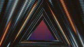 Las pantallas del LED, triángulos hacen un túnel, la animación 4k del fondo 3d de los acontecimientos de la moda libre illustration