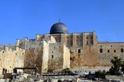 Las paredes antiguas de Jerusalén imagen de archivo libre de regalías
