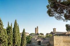 Las paredes antiguas de la ciudad Fotografía de archivo libre de regalías