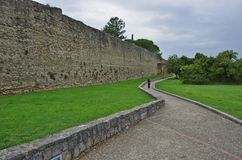 Las paredes circundantes de Arezzo Fotos de archivo
