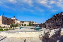 Las paredes de Jerusalén foto de archivo libre de regalías