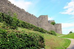 Las paredes de la ciudad, Conwy, País de Gales fotos de archivo libres de regalías