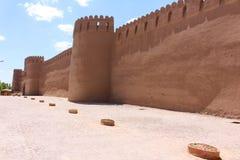 Las paredes de la ciudad de Rayen, Irán fotos de archivo libres de regalías