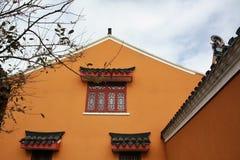 Las paredes de templos chinos fotografía de archivo