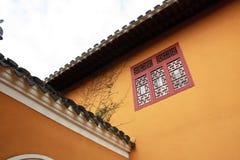 Las paredes de templos chinos foto de archivo libre de regalías