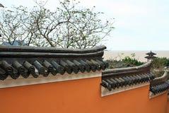 Las paredes de templos chinos fotos de archivo libres de regalías