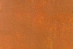 Las paredes del metal se pintan pintura anaranjada y amarilla Imagen de archivo libre de regalías