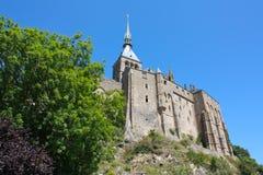 Las paredes exteriores del Saint-Michel de Mont Foto de archivo libre de regalías