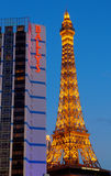 las paris vegas гостиницы Стоковое Изображение