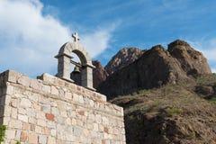 Las Parras Chapel. Near Loreto, Baja California Mexico stock photo