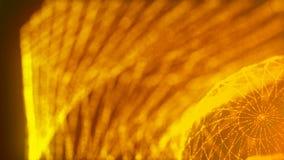 Las partículas brillantes del oro que agitan, fondo abstracto moderno generado por ordenador, 3d rinden stock de ilustración