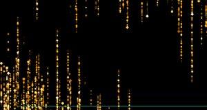 Las partículas de oro del Rhombus de la chispa del brillo protagonizan del top y abajo libre illustration