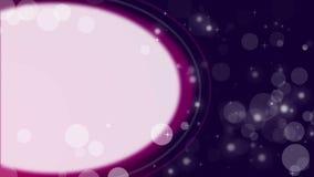 Las partículas en el fondo violeta con el espacio blanco colocan