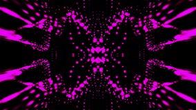 Las partículas que agitan en el espacio abstracto, 3d generado por ordenador rinden el fondo como terreno o superficie líquida libre illustration