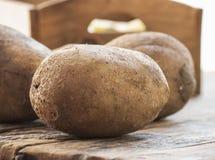 Las patatas se cierran para arriba imagen de archivo libre de regalías