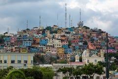 Las Peñas - η παλαιότερη περιοχή του Guayaquil, Ισημερινός στοκ εικόνα