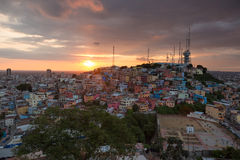 Las Peñas - the oldest area of Guayaquil, Ecuador Royalty Free Stock Photo