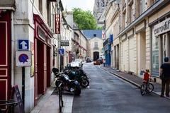 Las pequeñas calles de Bayeux fotos de archivo
