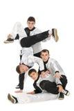 Las personas del retrato de jóvenes rompen a bailarines Imagenes de archivo