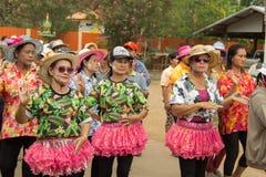 Las personas mayores tailandesas celebran el festival de Songkran o el Año Nuevo tailandés Fotos de archivo