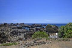 Las piedras de la costa de la isla Imagen de archivo libre de regalías