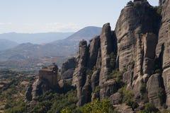 Las piedras de Meteora Fotos de archivo libres de regalías