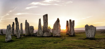 Las piedras derechas de Callanish imagen de archivo