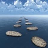 Las piedras en el agua Imagen de archivo libre de regalías