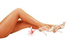 Las piernas de la mujer. imagen de archivo