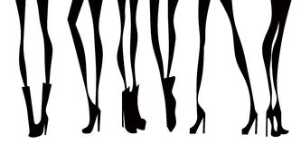 Las piernas de las mujeres Imágenes de archivo libres de regalías