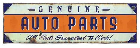 Las piezas de automóvil auténticas firman el vintage del Grunge foto de archivo