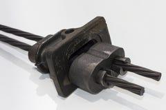 Las piezas de metal para los posts tensen el sistema plano del conducto fotos de archivo