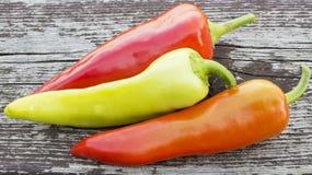 Las pimientas de chile se cierran para arriba Fotos de archivo