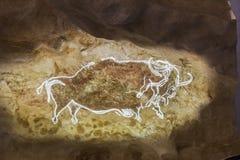 Las pinturas de cuevas en Lascaux excavan Francia imagen de archivo