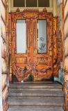 Las pinturas maravillosas de la calle de Dresden ilustración del vector