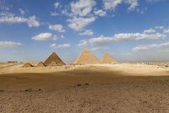 Las pirámides de Egipto Imagen de archivo