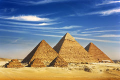 Las pirámides de Giza imágenes de archivo libres de regalías