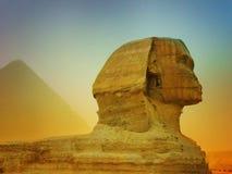 Las pirámides de Giza en Egipto, Oriente Medio Foto de archivo