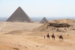 Las pirámides en gaza imagenes de archivo