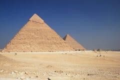 Las pirámides en Giza Fotografía de archivo libre de regalías