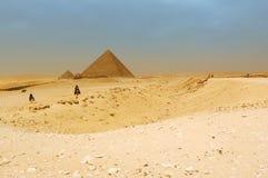 Las pirámides en Giza Foto de archivo libre de regalías