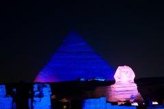 Las pirámides espectaculares de Giza Foto de archivo