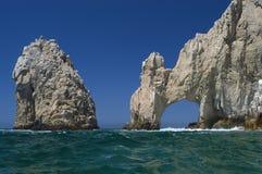 Las pistas terminan, Cabo San Lucas Foto de archivo libre de regalías