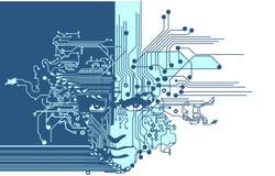 Las placas de circuito hacen frente al azul libre illustration