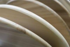 Las placas de madera de la haya son en abanico Foto de archivo